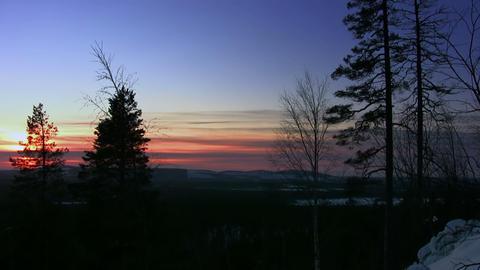 Winter sunset Footage