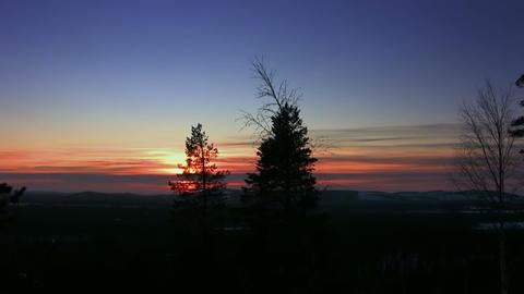 Winter sunset Stock Video Footage