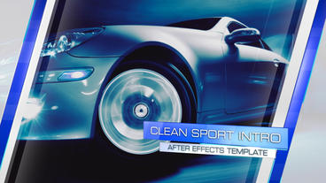 Clean Sport Intro - After Effects Template After Effects Project