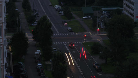 Crossroads. Day to night city time lapse Stock Video Footage