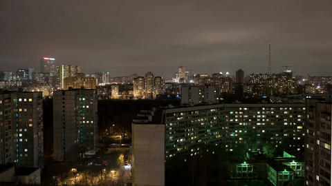 Industrial city time lapse by night Stock Video Footage