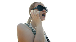 Young woman talking on the phone Stock Video Footage
