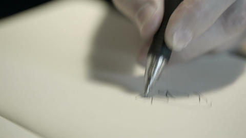 Hand drawing with a pen Stock Video Footage