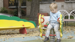 Little boy on the playground Footage
