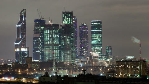 Moscow city time lapse Footage