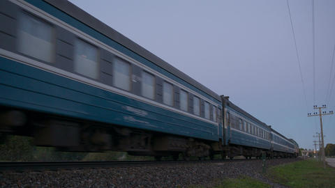 Train passing by in the countryside Footage