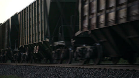 Freight train passing by Stock Video Footage