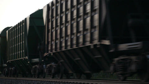 Freight train passing by Footage