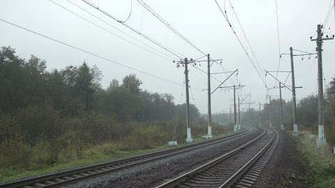 Train passing by in the countryside Stock Video Footage