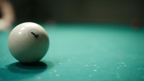 Playing billiards Stock Video Footage