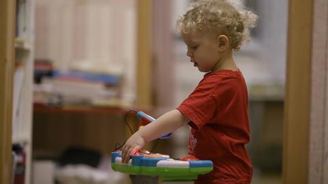 Little boy dancing Footage