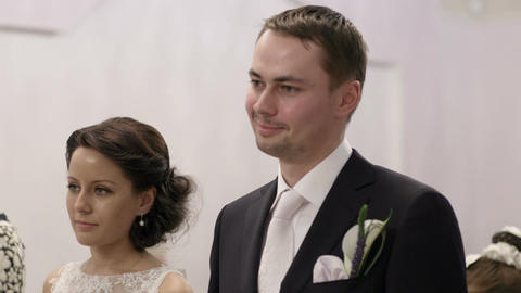 Bridal pair during wedding ceremony Footage