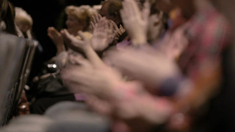 Audience applauding, during a spectacular event Footage