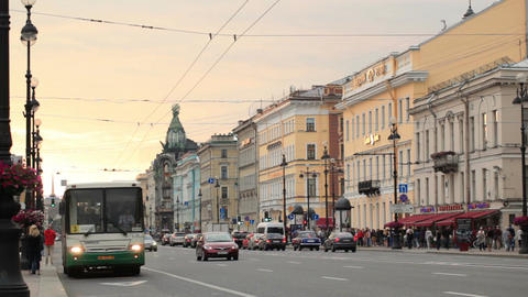 St. Petersburg, Nevsky Avenue Stock Video Footage