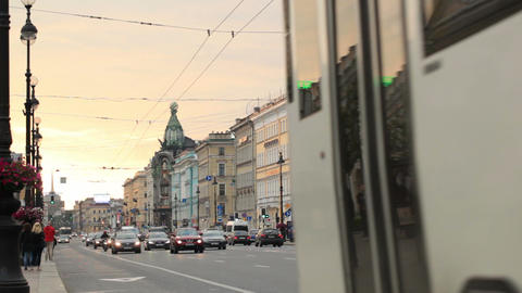 St. Petersburg, Nevsky Avenue Footage