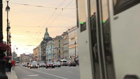 St. Petersburg, Nevsky Avenue Stock Video Footage