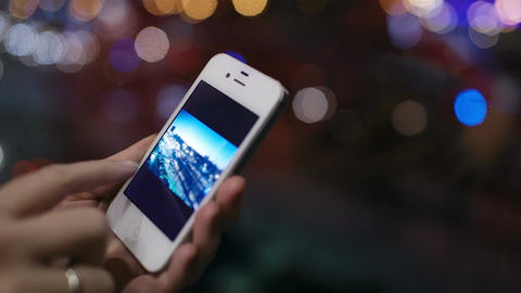 Using smartphone Stock Video Footage