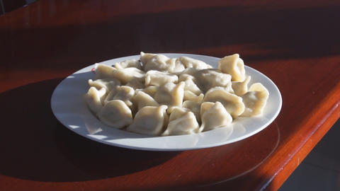 Chinese Food Dumplings Jiaozi 01 Stock Video Footage