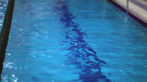 swimmer swims away from the camera Stock Video Footage