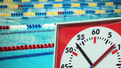 Sports Stopwatch in the Swimming pool Footage