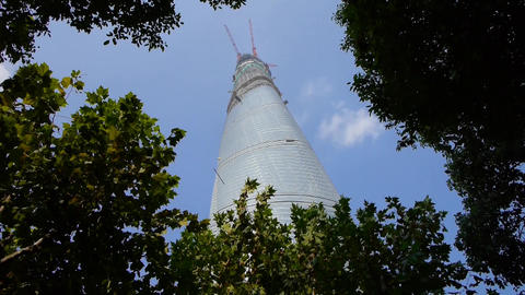 shanghai lujiazui finance center & skyscraper Stock Video Footage