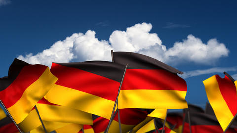 Waving German Flags Stock Video Footage