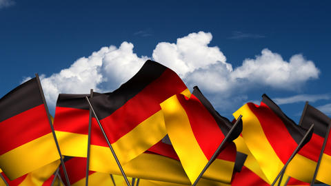 Waving German Flags Animation