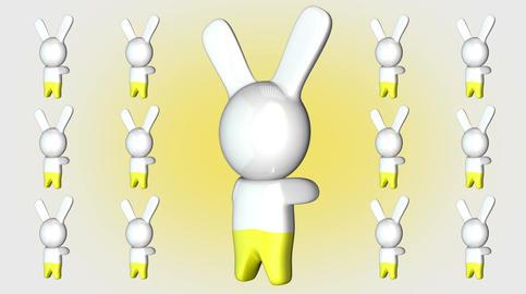4 K Kawaii Bunny Loop 2 Stock Video Footage