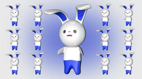 4 K Kawaii Bunny Loop 4 Stock Video Footage
