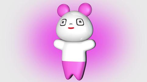 4 K Kawaii Panda Loop 1 with Matte Stock Video Footage