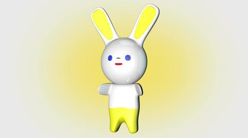 Kawaii Bunny Loop 1 with Matte Stock Video Footage