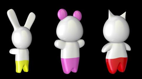 Kawaii Figures with Matte Animation
