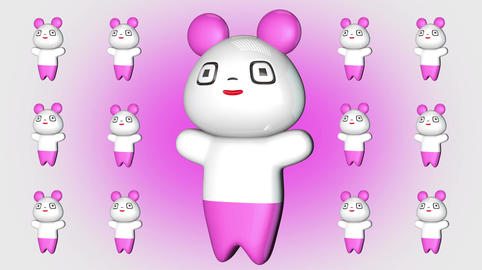 Kawaii Panda Loop 2 Stock Video Footage