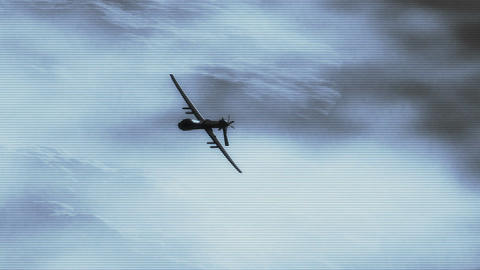 Predator Drone in Action 2 Stock Video Footage