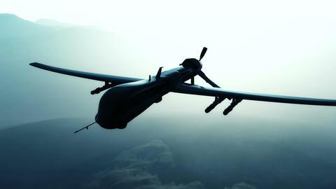 Predator Drone in Action Sunset Sunrise 2 Animation