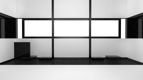 Building Up Modern Living Room Bedroom Stock Video Footage