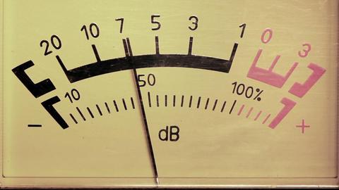 decibel meter - part of sound equipment Stock Video Footage