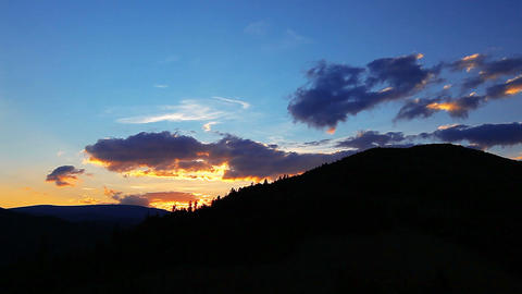 sunset in the mountains Footage