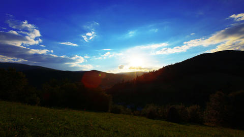 sunset in the mountains Stock Video Footage