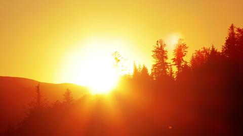 mountain landscape. sunset Footage