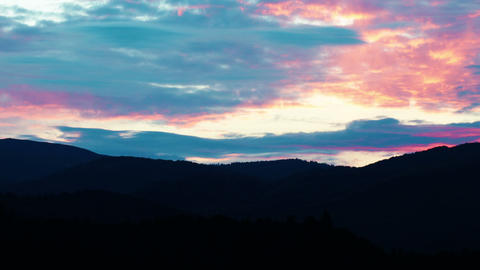 Mountain Landscape. Sunset stock footage