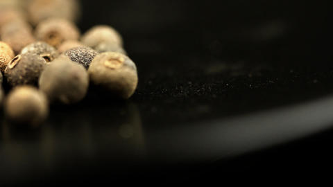 Black Pepper Spice HD Macro Footage stock footage