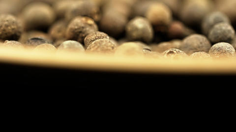 Black pepper spice HD macro footage Footage