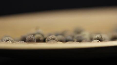 Black pepper spice HD macro footage Stock Video Footage