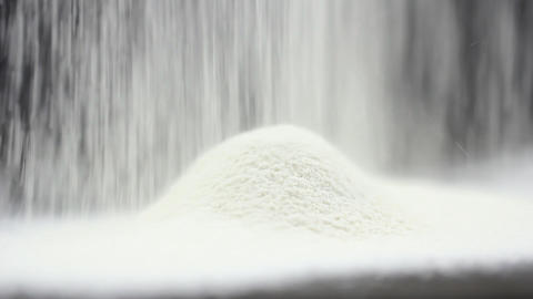 Food flour styling egg Stock Video Footage