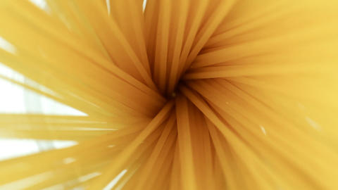 Food Spaghetti in a pot spinning macro shot Stock Video Footage