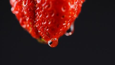 Food Strawberry fruit juice Stock Video Footage