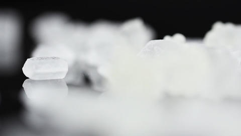 Food Sugar on black background Footage