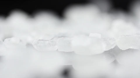 Food Sugar on black background Footage