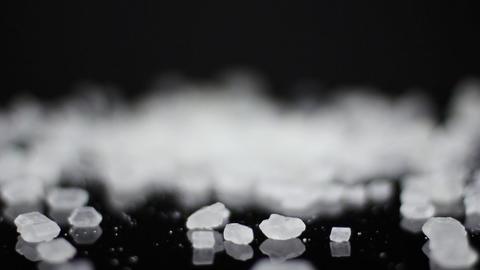 Food Sugar on black background ビデオ
